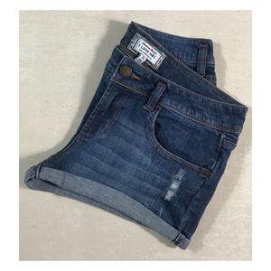 Forever 21 Distressed Stretch Premium Denim Shorts
